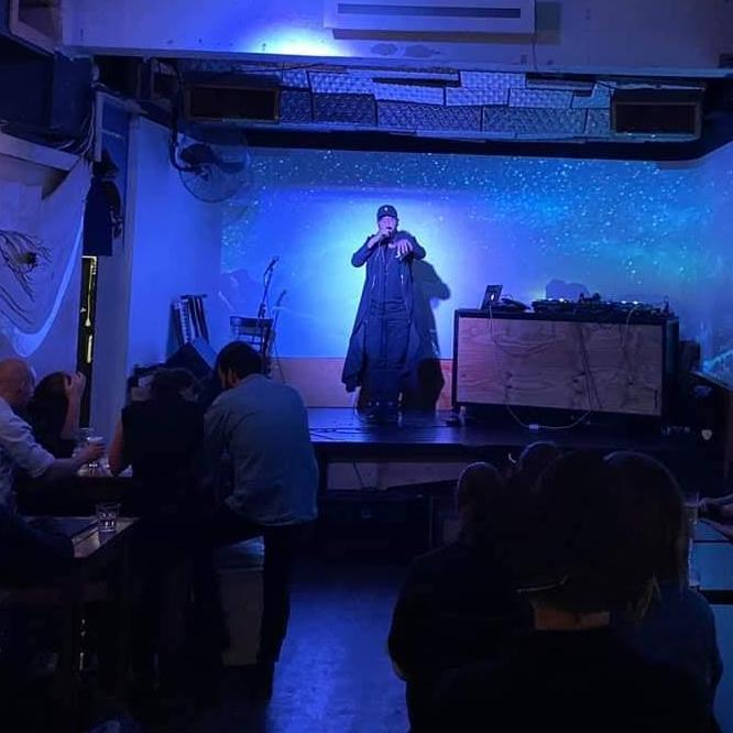 Emkew performing at Horse Bazaar Melbourne hip hop